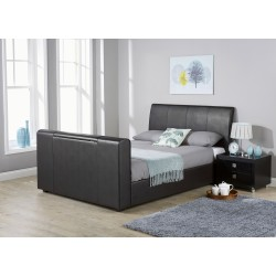 BROOKLYN Pneumatic TV Bedstead Black