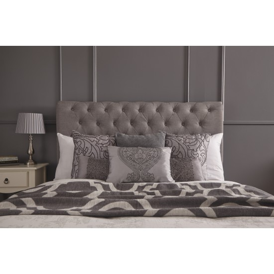 Layla Silver Ottoman Hopsack Fabric Storage Bed