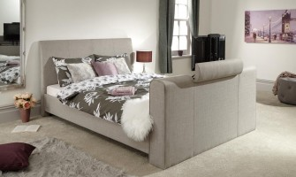 Fabric TV Bed Frame