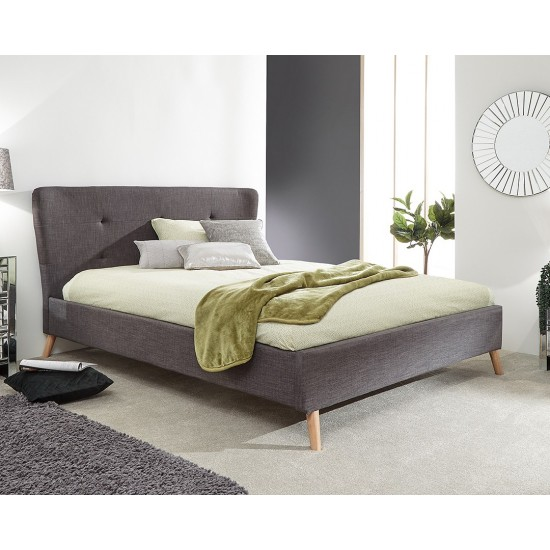 CARNABY Grey Wing Double Bed