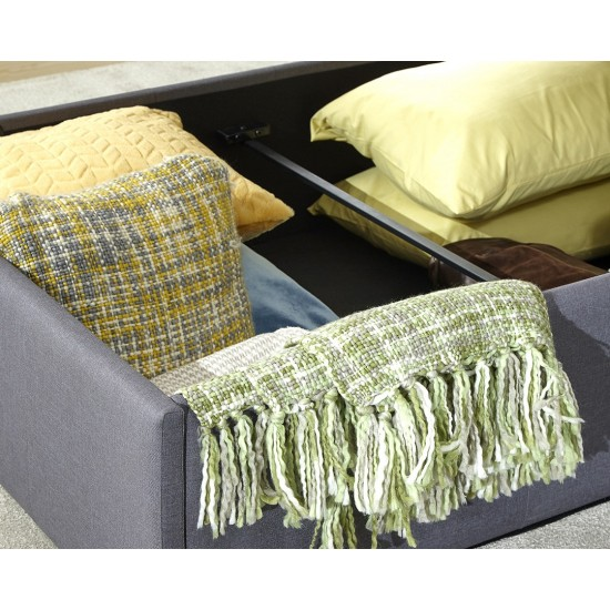 ASCOT Fabric Ottoman Bedstead 4ft6 Double