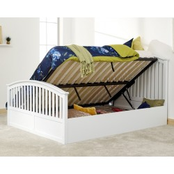 Madrid High foot end Side Lift Ottoman Double Bed