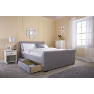 Hannover Bed Hopsack Fabric 4 Drawer Storage Bed