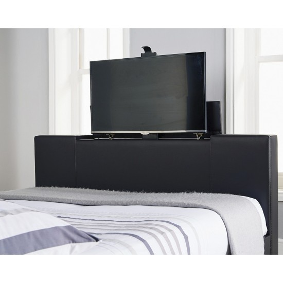Newark Electric TV Bed Frame Black Double
