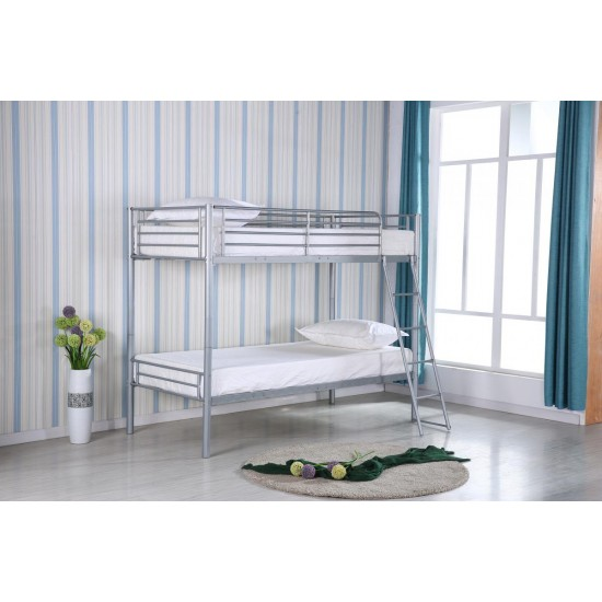 Himley Kids Bunk Bed Silver Frame ONLY