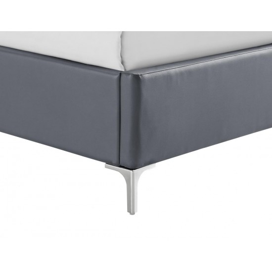 Arco PU King Size Bed Grey
