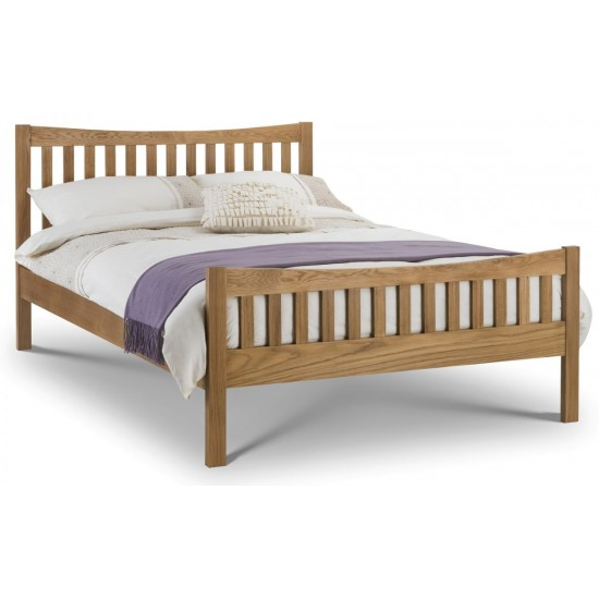 Bergam Solid Oak Bed Frame Double & King Size