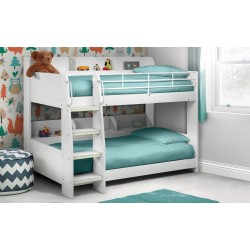Kids Domino Bunk Bed - All White