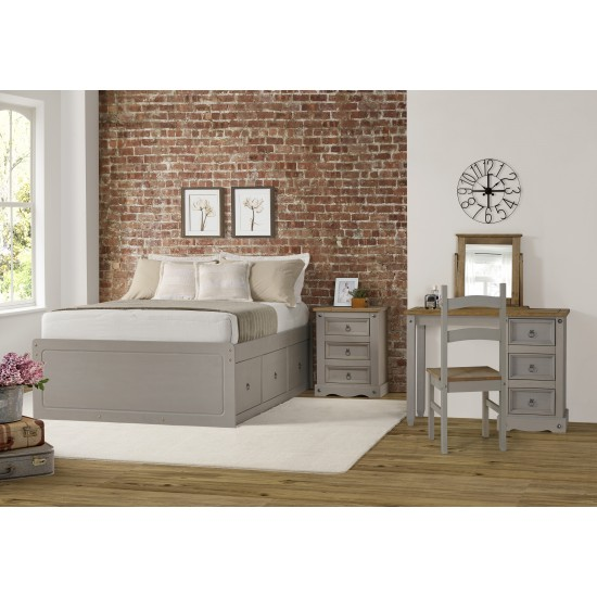 free shipping f2c03 c9c2f Wooden Grey 4 Drawer Cabin Bed