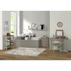 Wooden Grey 4 Drawer Cabin Bed
