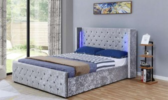 LED Side Lift Ottoman bed