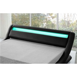 ITALIAN Modern LED Designer Leather Bed