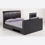 Super King 6.0 Leather TV Bed