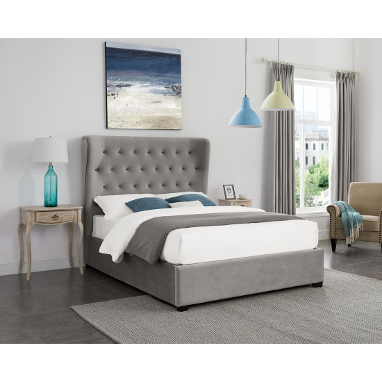 Belgravia Grey Double Ottoman Storage Bed Frame
