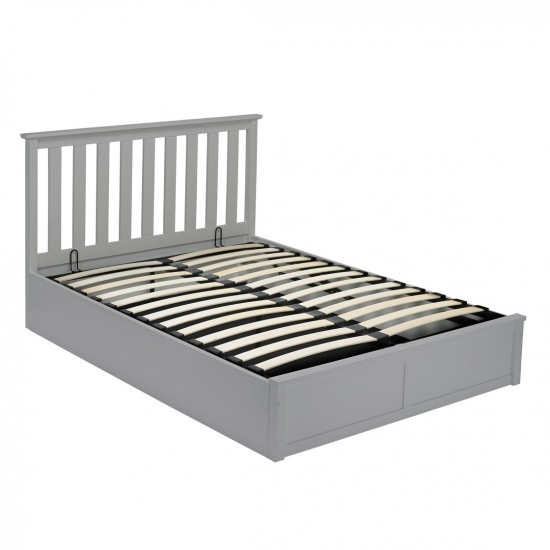 Oxford King Size Solid Wood Bed Frame GREY