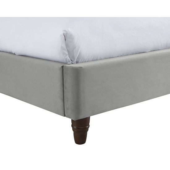 Cappuccino Fabric Double Bed Frame