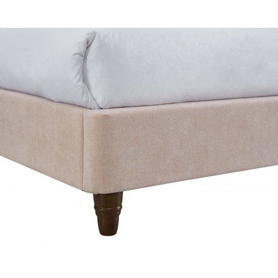 Pink Fabric Double Bed Frame
