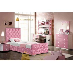 Pink Crushed Velvet Bed Frame
