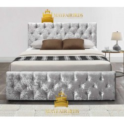 Crushed Velvet ICE Sleigh BED