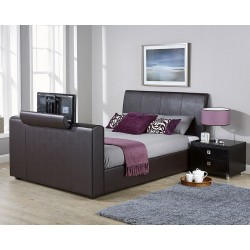 BROOKLYN Pneumatic TV Bedstead Brown