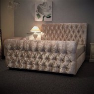 Chesterfield Style Sleigh Bed