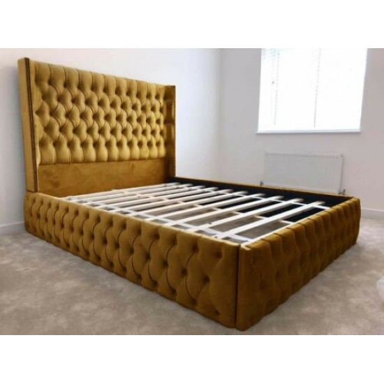 Frankfurt Chesterfield Wing Bed Frame