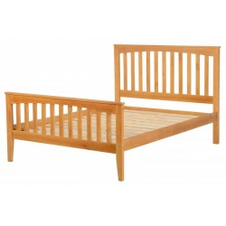 """Stella 4'6"""" Double Bed in Antique Pine"""