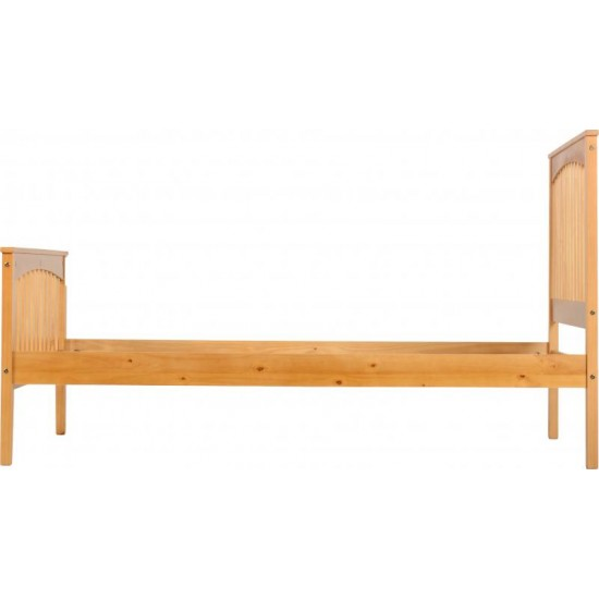 "Stella 4'6"" Double Bed in Antique Pine"